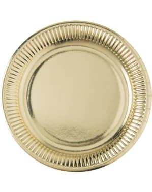 10 x Kultainen lautassetti