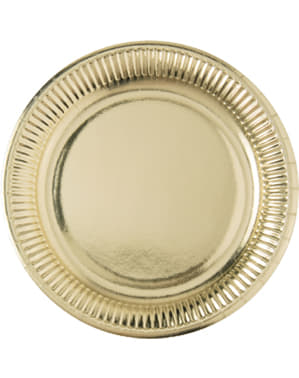 Teller Set gold 10-teilig