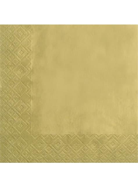 20 servilletas Gold (33x33 cm)