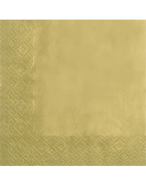 20 guardanapos dourados - Gold (33x33 cm)