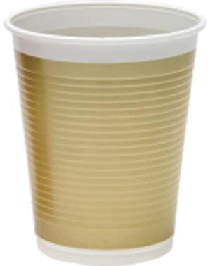 8 copos dourados - Gold