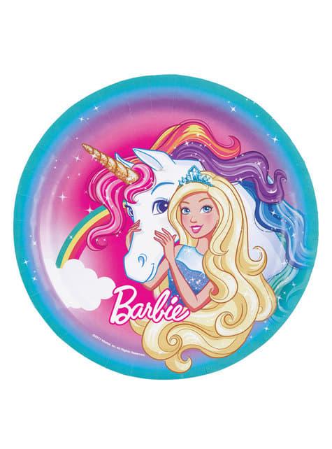 8 big Barbie Dreamtopia plates (23 cm)