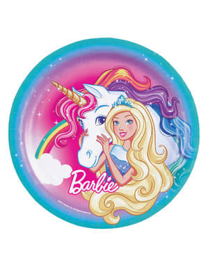 8 big Barbie Dreamtopia plates (23 cm)