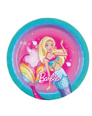 8 Barbie Dreamtopia dessert plates  (18 cm)