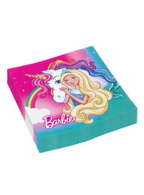 Conjunto de 16 guardanapos de Barbie Dreamtropia