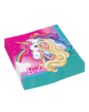 16 guardanapos de Barbie Dreamtropia (33x33 cm)