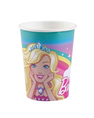 8 copos de papel de Barbie Dreamtropia