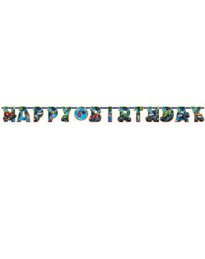 Customizable Blaze birthday garland