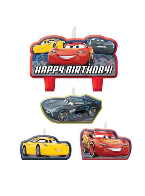 Set de 4 velas de cumpleaños de Cars