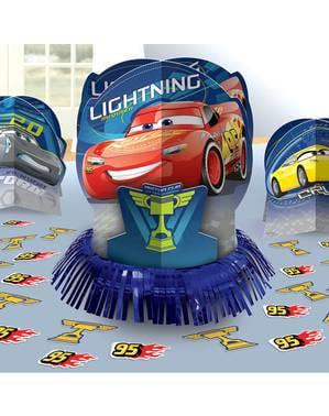 Cars bord dekorations sæt