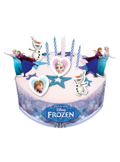 Kit de decoración para tarta de Frozen