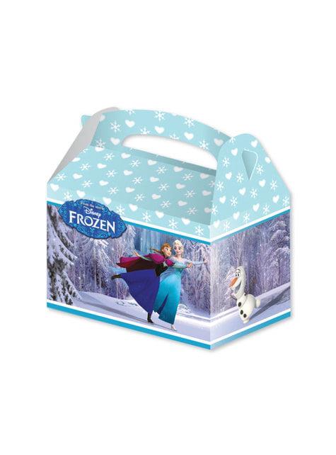 4 Frozen cardboard boxes
