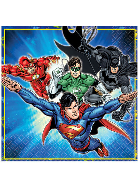 16 The Justice League napkings (33x33 cm)