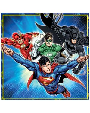 16 Serviettes en papier Justice League