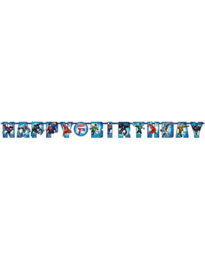 Customizable The Justice League birthday garland