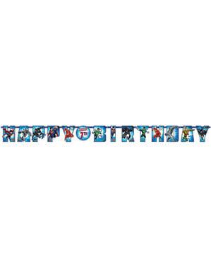 Festone di compleanno di Justice League da personalizzare