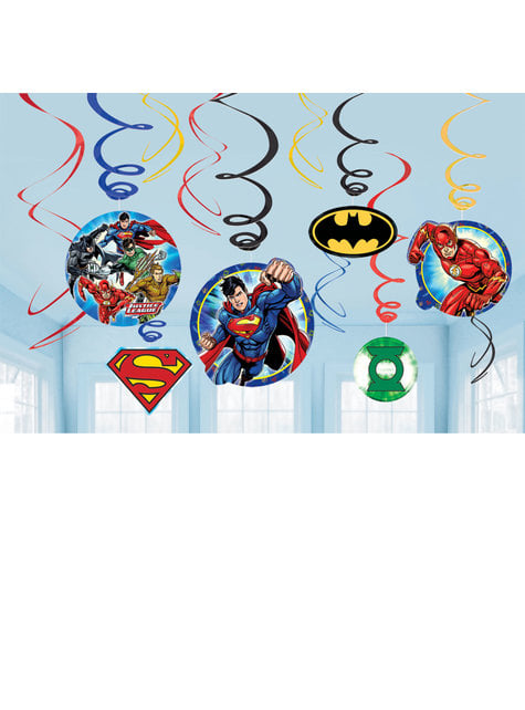 12 The Justice League hanging decorations