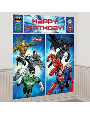 The Justice League muur decoratie set