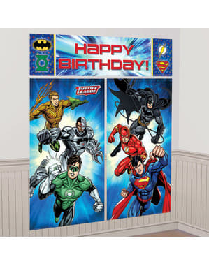 The Justice League wall decoration kit