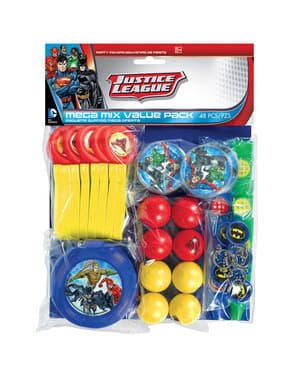 Mega Set med 48 småleksaker Justice League
