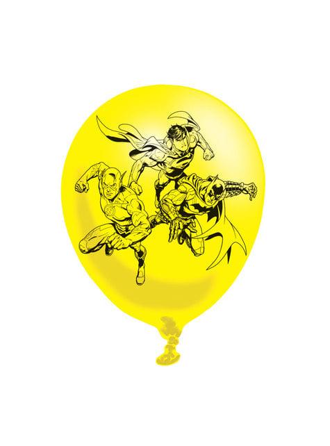 6 ballons en latex divers Justice League