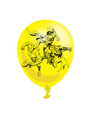 6 varied The Justice League latex balloons (28 cm)