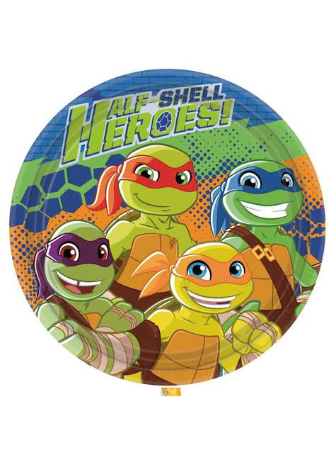 Set de 8 platos Las Tortugas Ninja Half-Shell Heroes