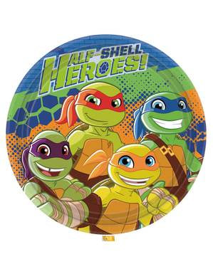 8 pratos As Tartarugas Ninja Half-Shell Heroes