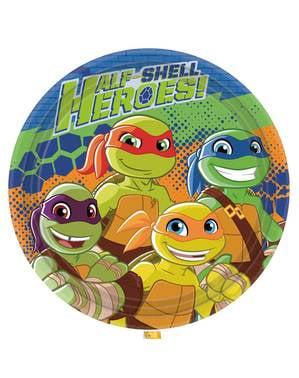 סט 8 צלחות גיבורי צבי הנינג'ה חצי-Shell