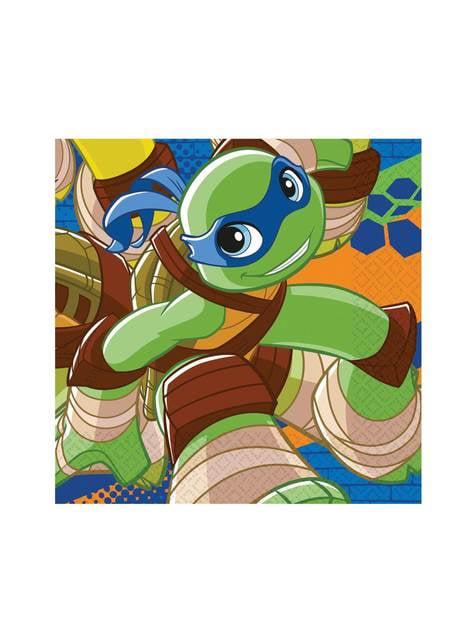 Set de 20 servilletas de Las Tortugas Ninja Half-Shell Heroes