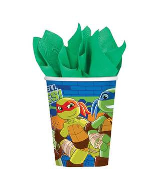 8 Teenage Mutant Ninja Turtles Half-Shell Heroes cups