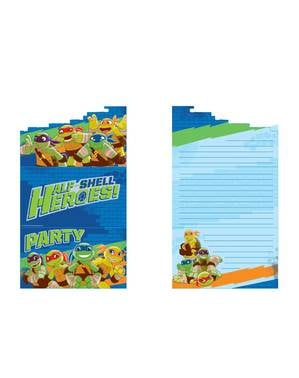 8 Teenage Mutant Ninja Turtles Half-Shell Heroes invitations