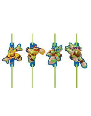 Набір з 8 підлітків мутант ніндзя черепах Half-Shell героїв соломинки