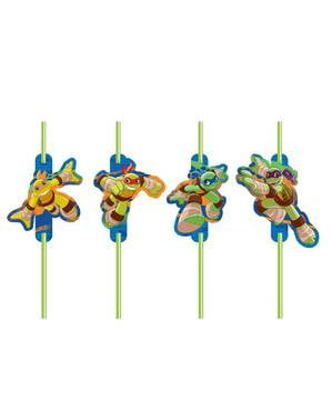 8 Teenage Mutant Ninja Turtles Half-Shell Heroes straws