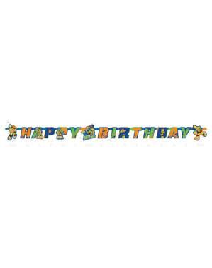 Festone di compleanno delle Tartarughe Ninja Half-Shell Heroes