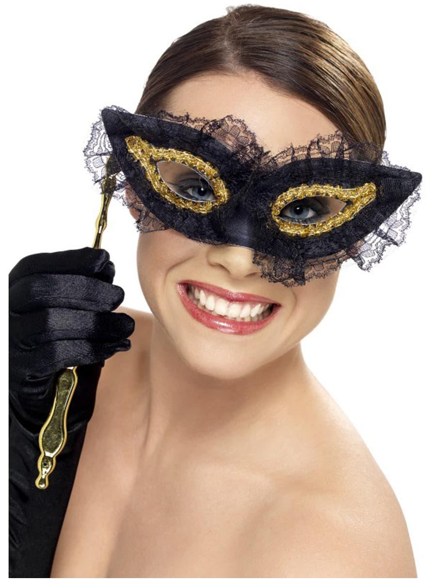 edle augen maske mit griff f r kost m funidelia. Black Bedroom Furniture Sets. Home Design Ideas