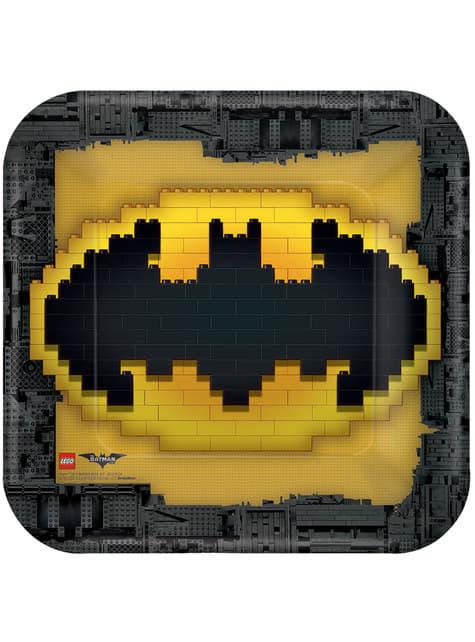 Conjunto de 8 pratos grandes de Lego Batman: O Filme