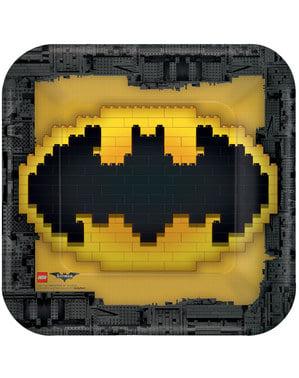 Sett med 8 store The Lego Batman Filmen tallerkener