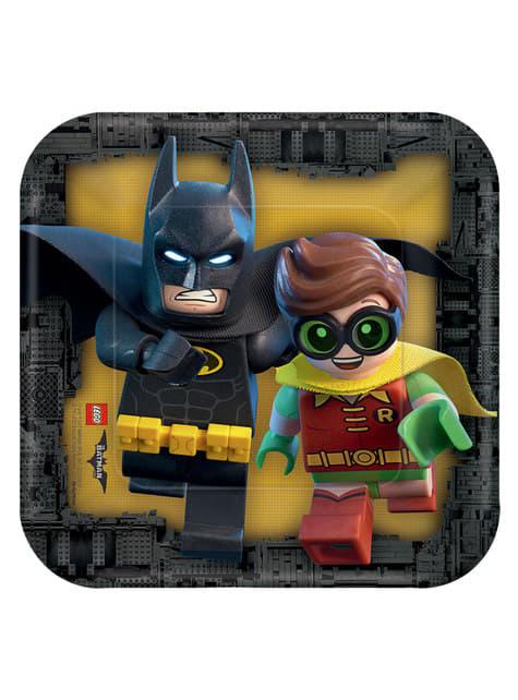 8 platos pequeños de Batman La Lego Película (18 cm)