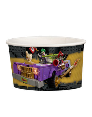 Sett med 8 små The Lego Batman Filmen iskrem kopper
