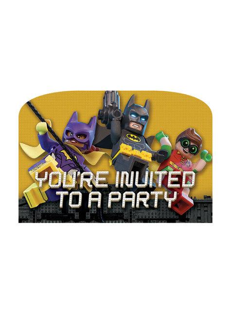 8 The Lego Batman Movie invitations