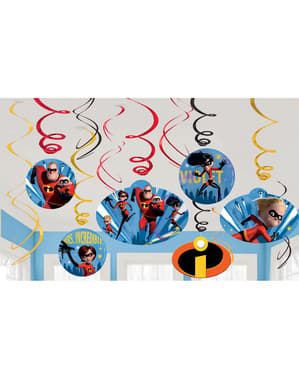 Set of 12 The Incredibles 2 hanging decorations