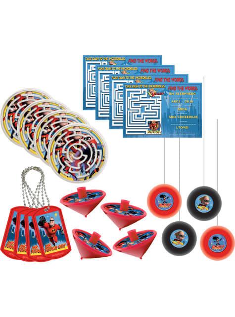 Mega conjunto de 48 brinquedinhos de The Incredibles: Os Super-Heróis 2