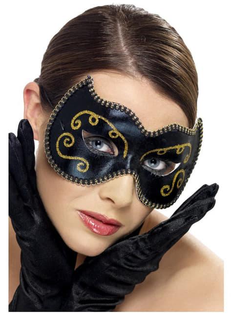 Elegant Venetian Carnival Eye Mask
