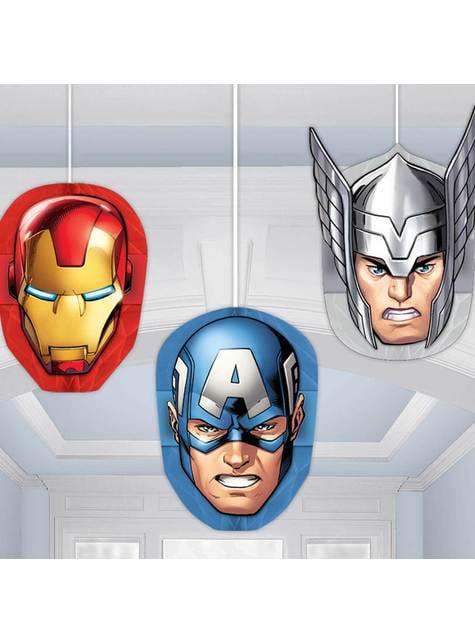 3 muñecos colgantes de panel de abeja de Los Vengadores - Mighty Avengers