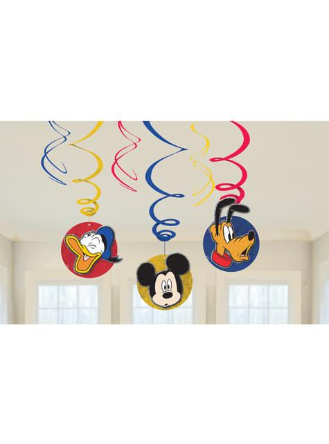 Conjunto de 6 enfeites pingentes de Mickey Mouse