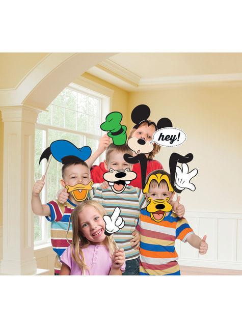Conjunto de 12 acessórios para photocall de Mickey Mouse