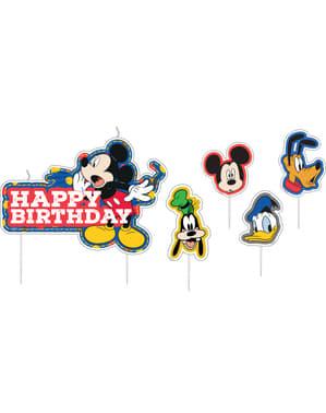 Sæt af 17 Mickey Mouse fødselsdags lys