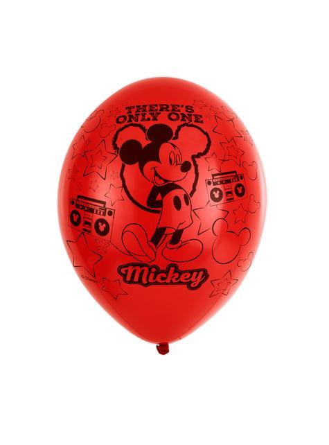 6 globos de látex Mickey Mouse party (28 cm)