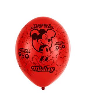6 latex Mickey Mouse feest ballonnen (28 cm)